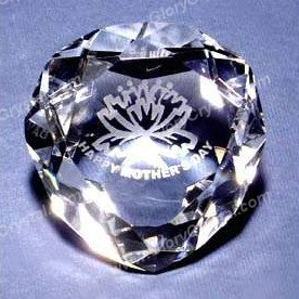 heart-shaped optical crystal paper weight