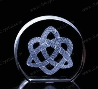 crystal plaque 3d image etched inside
