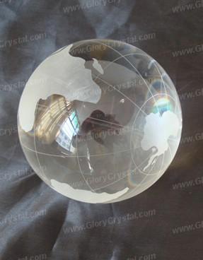 Crystal globe ball world map design sandblasted ball glass globe globe ball crystal gumiabroncs Choice Image