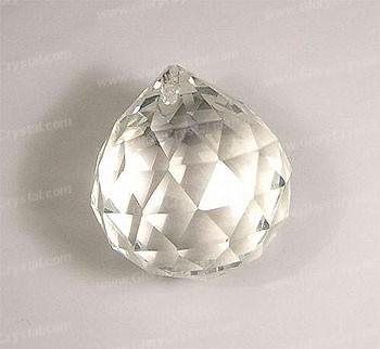 Óptico bola de cristal lustre claro, parte candelabro de vidro ótico. Bola de Cristal facetado Clear.