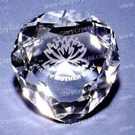 Coração de cristal favor do casamento do diamante