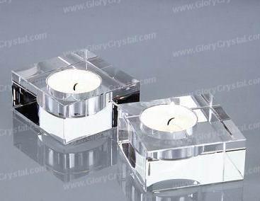 Castiçal de cristal óptico Cube