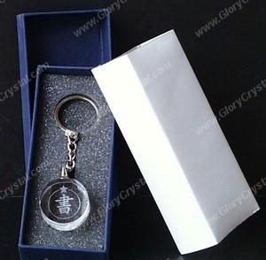 Anel de cristal redondo chave