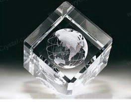 3d laser crystal cube paperweight