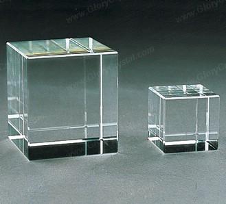 paperweight cubo branco óptico de cristal, nós podemos gravar o seu logotipo ou imagem personalizada dentro do cubo.