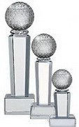 Golf Trophy Award Optical Cristal