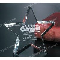 star crystal paper weight