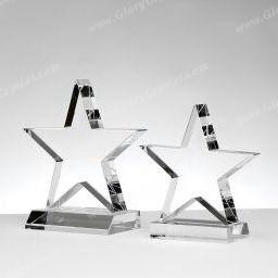 star crystal trophy award